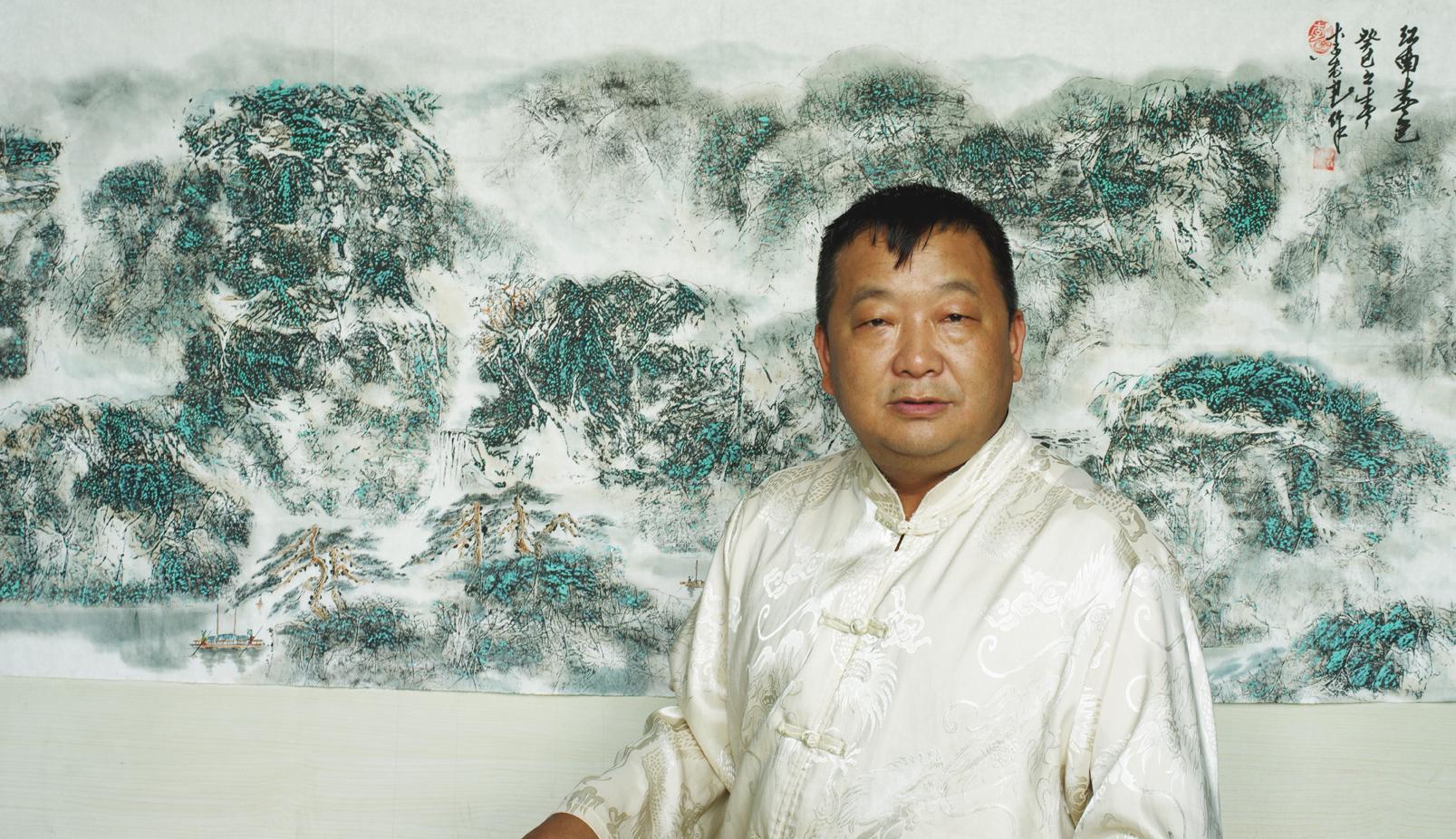 李 忠 良--国画天然山石新画派