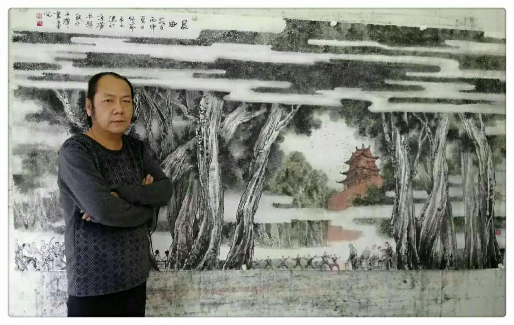 笔墨细腻 意境深邃__画家唐振国